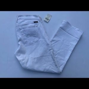 Lucky brand jeans white sweet crop size 10/30 NWT